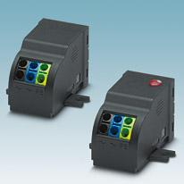 Proteção para equipamentos universal com bornes à mola para aplicação na tecnologia de edifícios ou para fabricantes de equipamentos